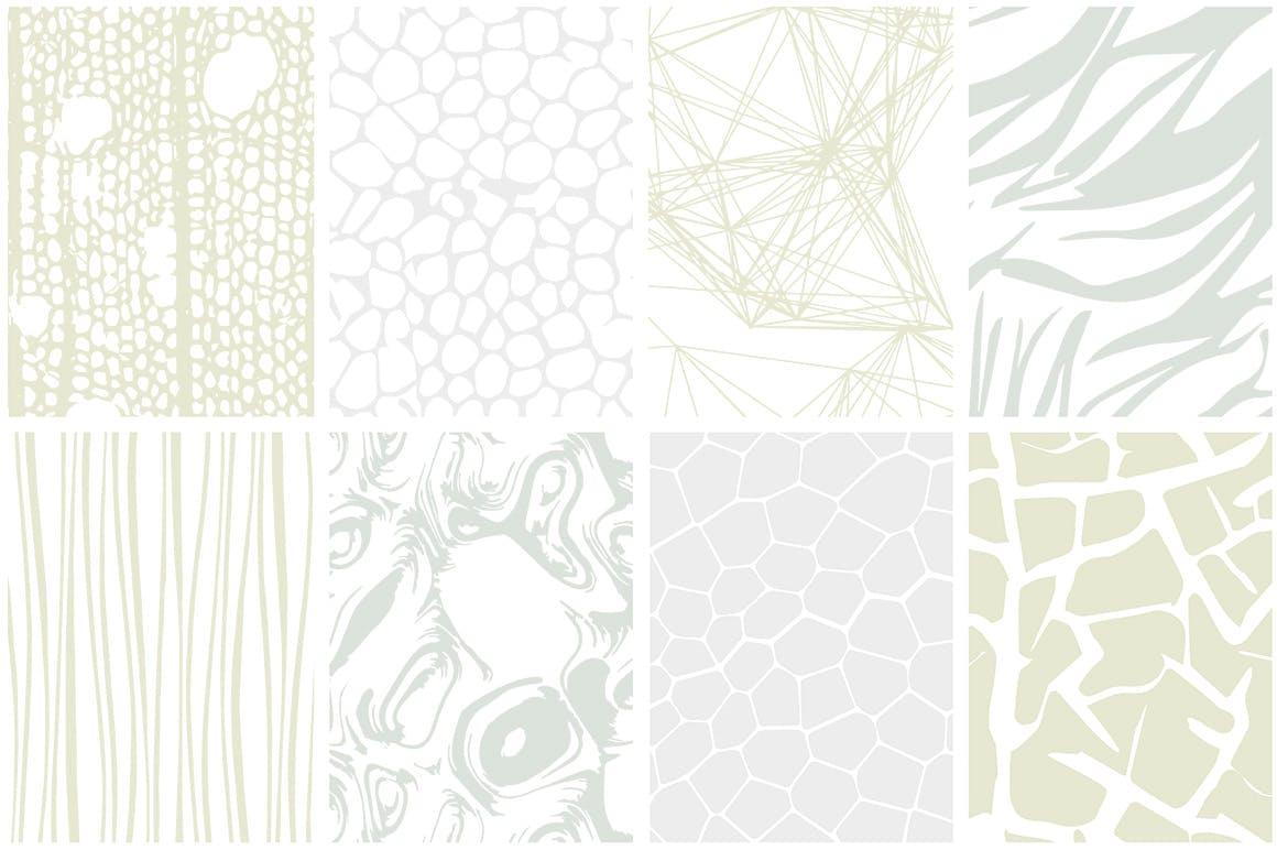 自然纹理大自然线条图案组合展示下载Organic Patterns 2 color palettes插图(5)