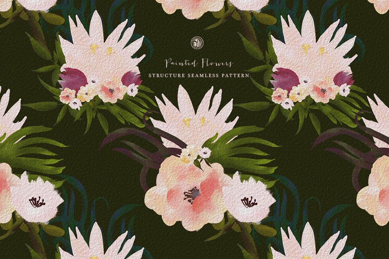 彩绘花卉品牌手提袋包装装饰图案素材Painted Flowers插图(5)