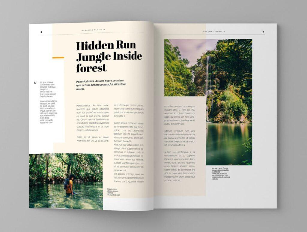 大自然主题/森林/旅游主题杂志模板Panorm Magazine Template插图(5)
