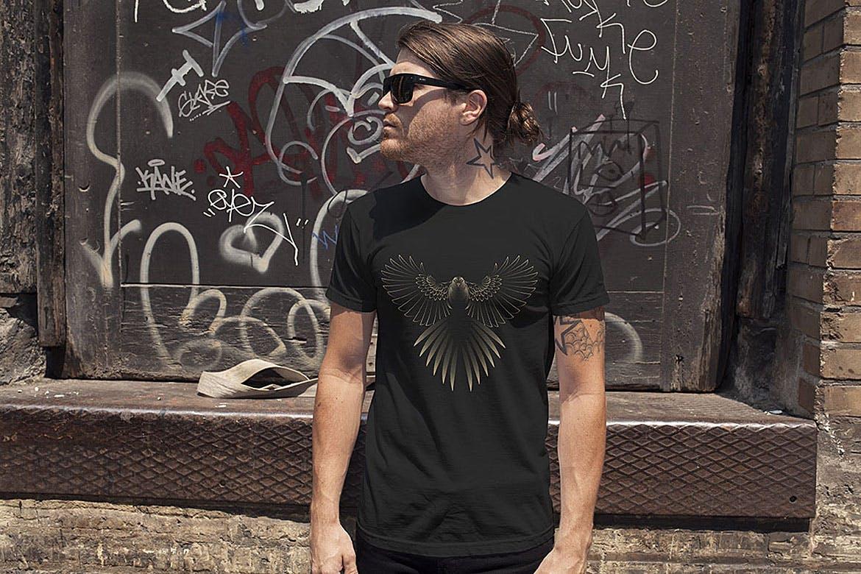 杂点风动物头像设计服装品牌装饰图案Point Animals T-shirt Vector Designs插图(5)