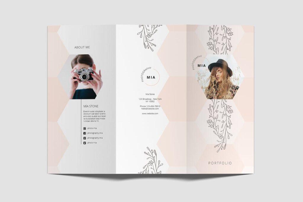 企业多功能组合小册子模板素材Portfolio Trifold Flyer插图(5)