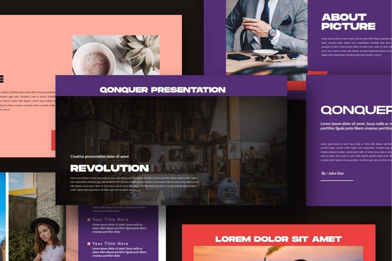 企业上市宣讲PPT幻灯片模板Qonquer URBAN Powerpoint插图(5)