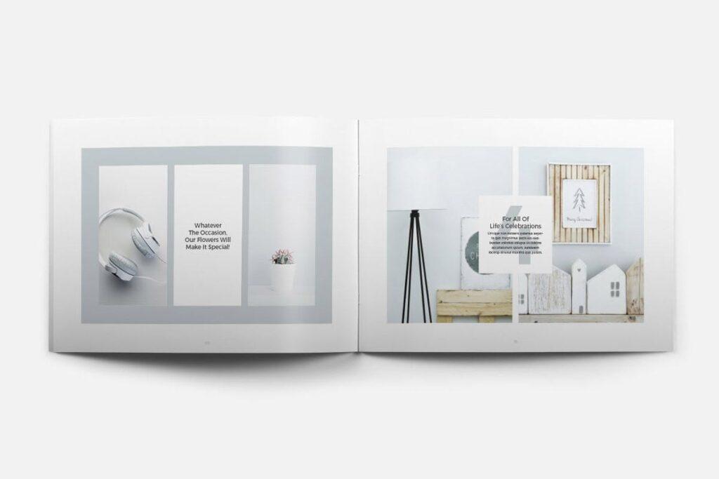 简约绿植居家生活类画册模板Rigel Brochure Template插图(5)