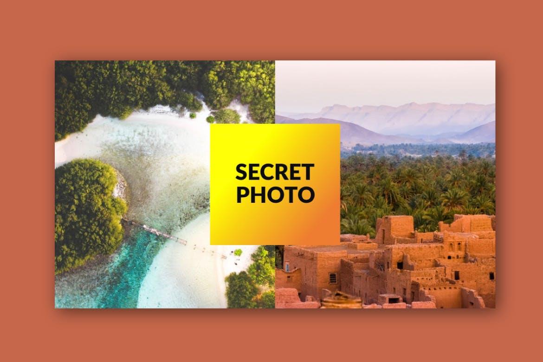 旅游主题品牌宣传PPT幻灯片模板Scret Google Slide插图(5)
