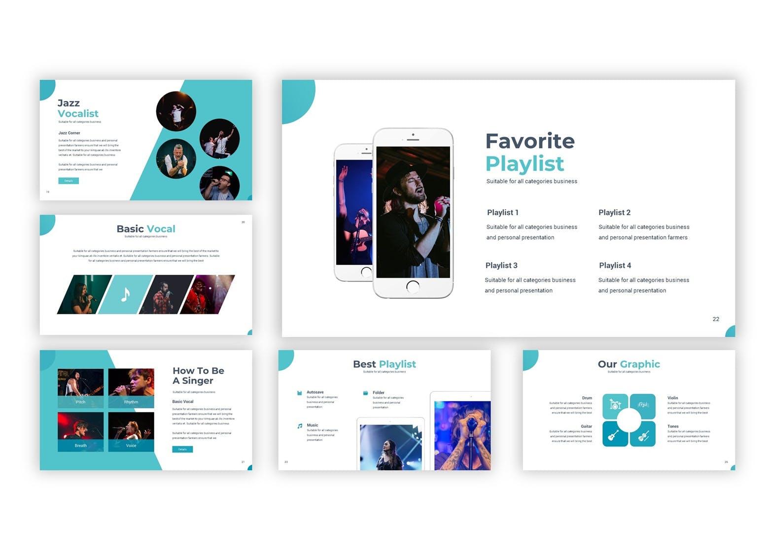 演唱会活动宣讲及活动策划案例PP幻灯片模板Singthrou Google Slides Template插图(5)