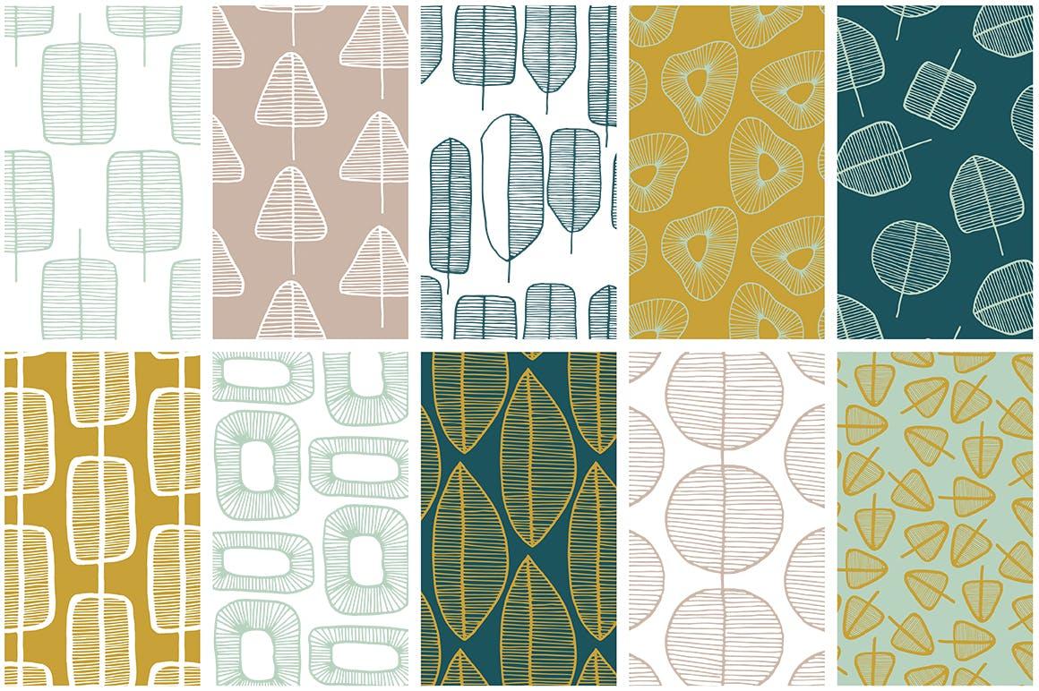 春天森林物语系列装饰纹理素材下载Spring Forest Patterns Collection插图(5)