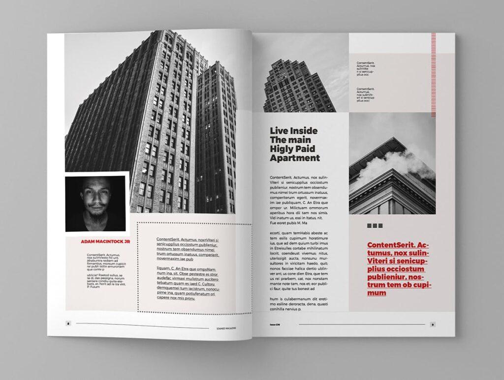 年代历史回忆录主题杂志模板素材Stained Magazine Template插图(3)
