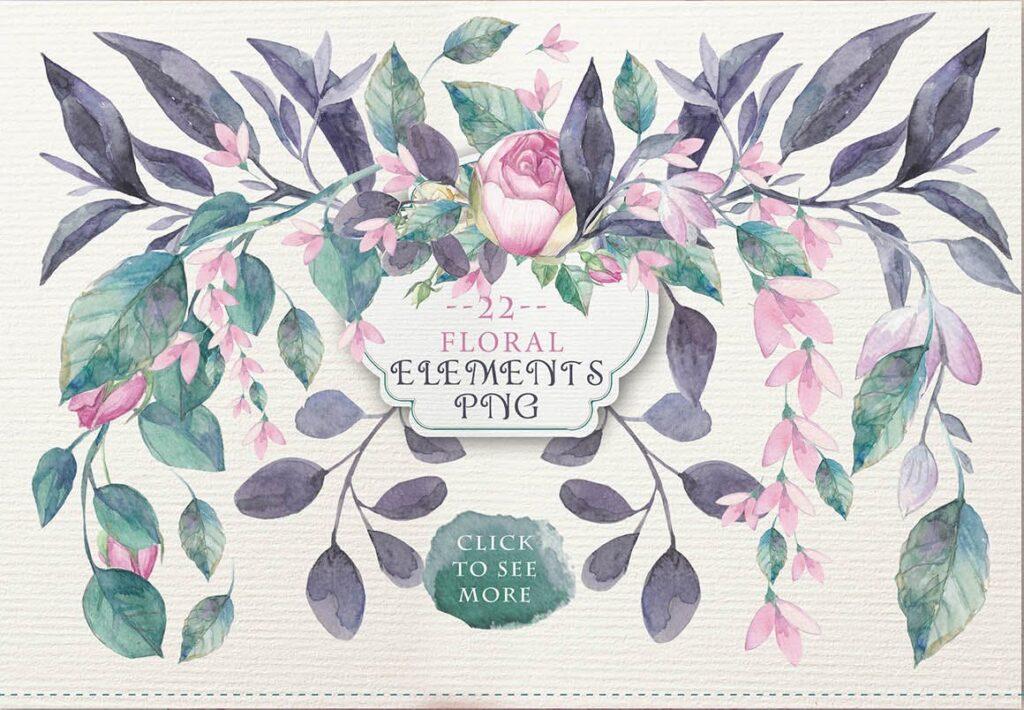企业品牌装饰图案花卉/花圈/装饰图案The garden roses插图(5)