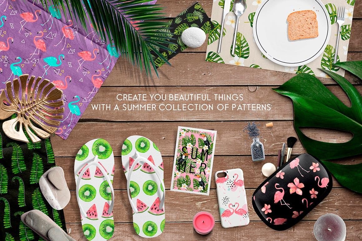 夏季热带森林电视背景墙图案花纹Tropical summer patterns插图(5)
