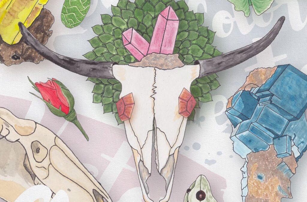 大自然生物创意图案手绘水彩装饰元素下载Watercolor Creatures vol. 1插图(5)