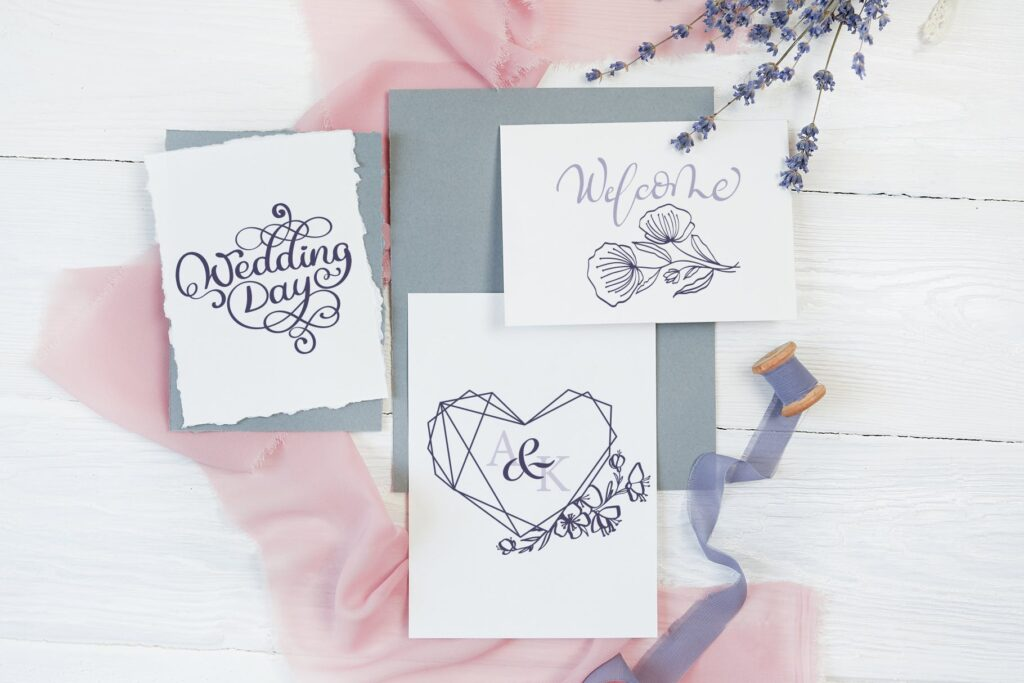 简单和经典婚礼邀请函主题装饰图案Wedding Vector Calligraphy插图(5)