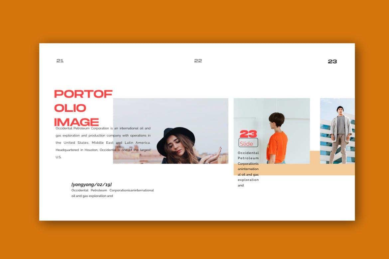 时尚潮流品牌提案PPT幻灯片模板Yong Google Slide插图(4)