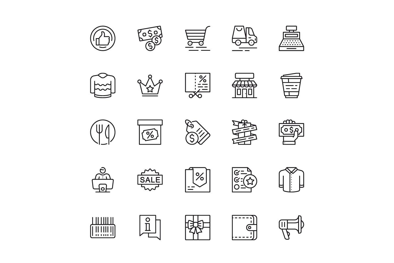 150个线性图标设计源文件下载150 Line Icons插图(6)