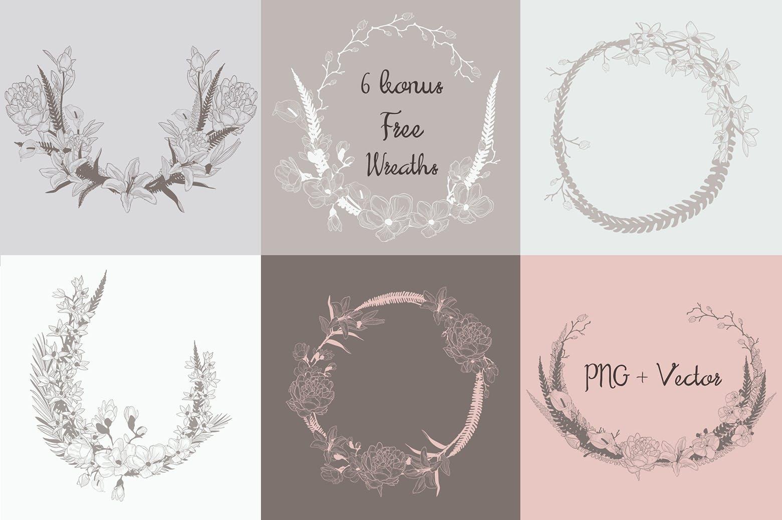 35个植物矢量图案装饰展示效果35 Patterns 8 Instagram Templates插图(5)