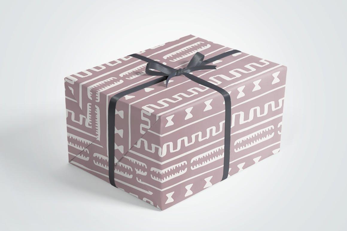 20个美丽的非洲泥布矢量图案集合装饰图案花纹插图(6)