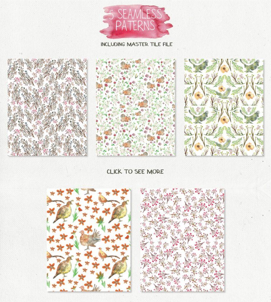 45个水彩画动物剪影的合集Animal Zone插图(5)