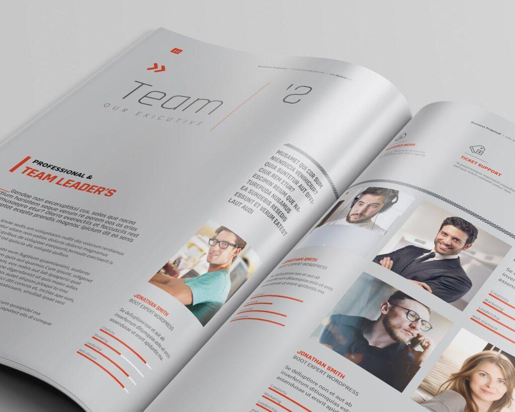 精致企业服务类/产品画册杂志模板Brochure WBYXNN插图(4)