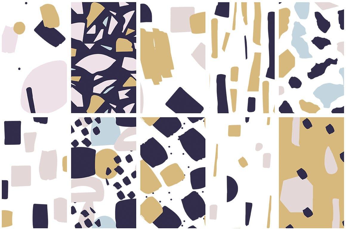 40个创意拼贴彩色图案涂鸦下载Collage Colorful Patterns插图(6)