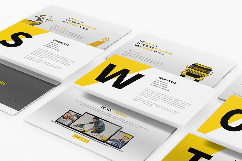 建筑行业团队介绍幻灯片模板展示Construction Powerpoint Presentation插图(6)