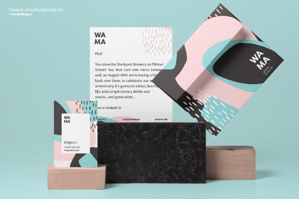 企业品牌装饰图案辅助图像素材花纹下载Creative Shape and Patterns Bundle插图(6)
