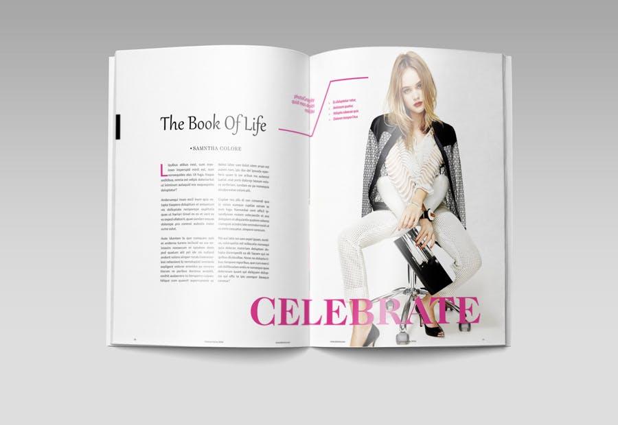 模特经纪或时装展览杂志模板素材Fashion Magazine R8C6UK插图(6)