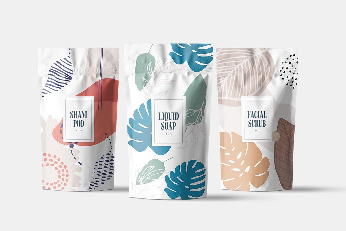 自然和花朵影响的艺术图案化妆品牌包装装饰图案Floral Backgrounds Patterns插图(6)