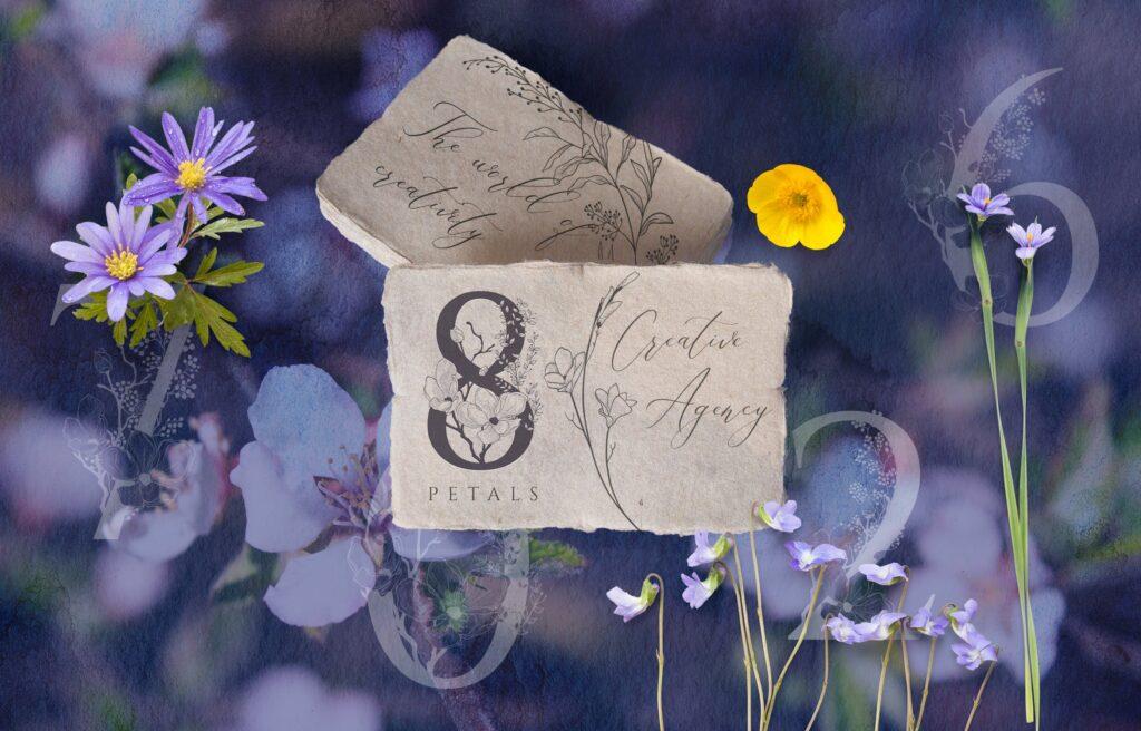 非常优雅的暮光之花系列花体字母组合Floral Monograms Elements插图(6)