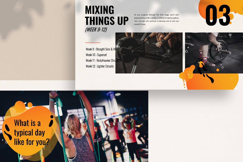 瑜伽健身主题宣讲PPT幻灯片模板GYM Google Slide插图(5)