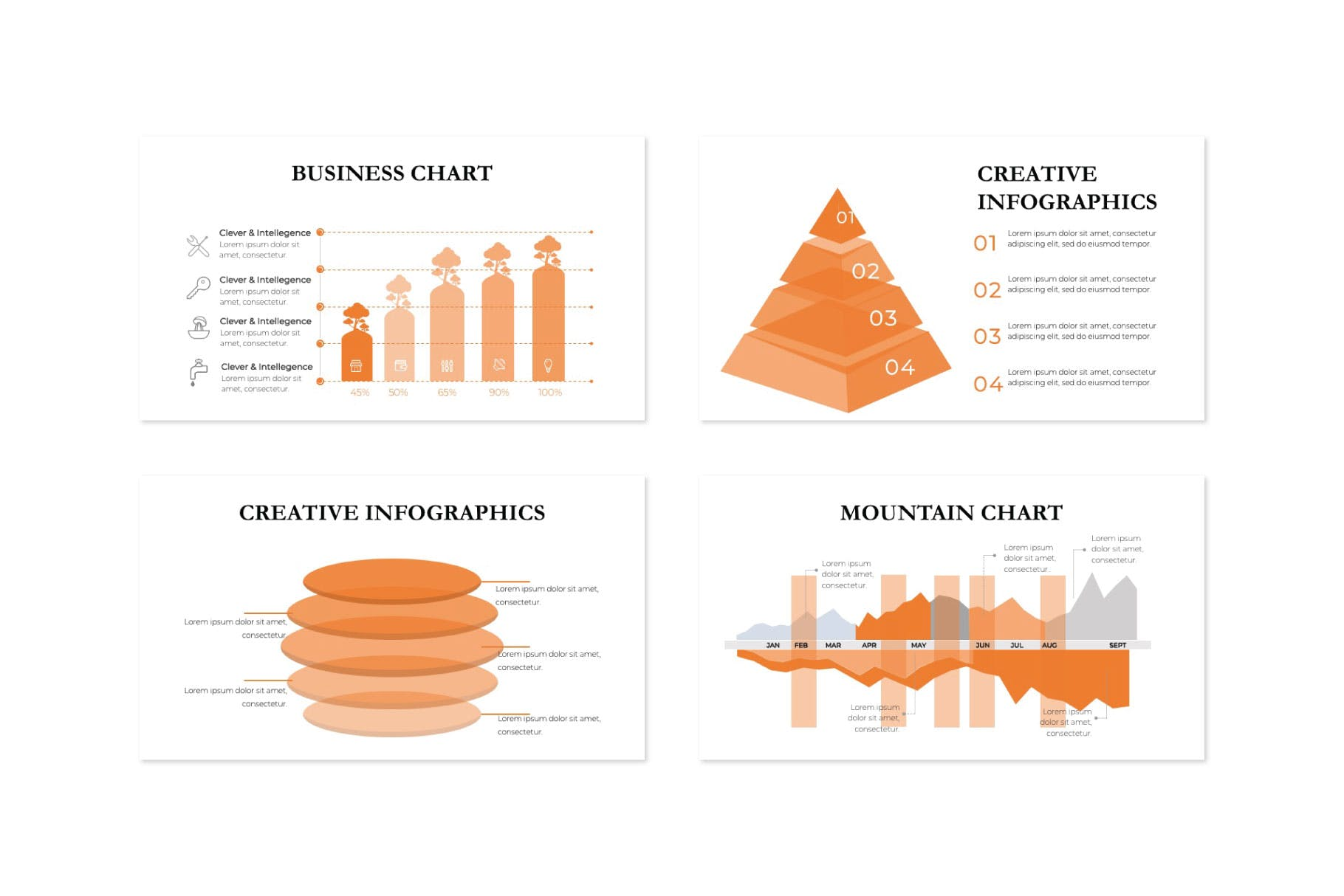 企业市场策划PPT幻灯片模板下载JULIETTE  Powerpoint Template插图(6)