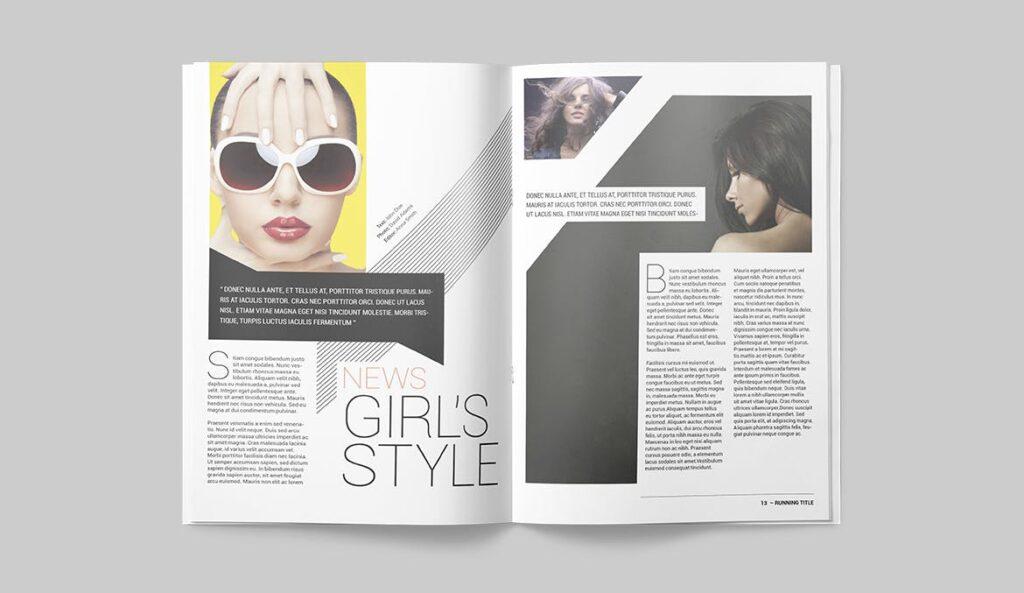 时尚潮流/画廊主题杂志模板Magazine Template SLCJBWR插图(6)