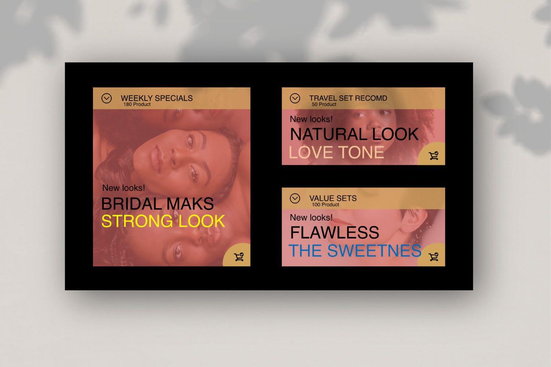 高端化妆品新品发布会PPT幻灯片模板Make Over Google Slide插图(6)