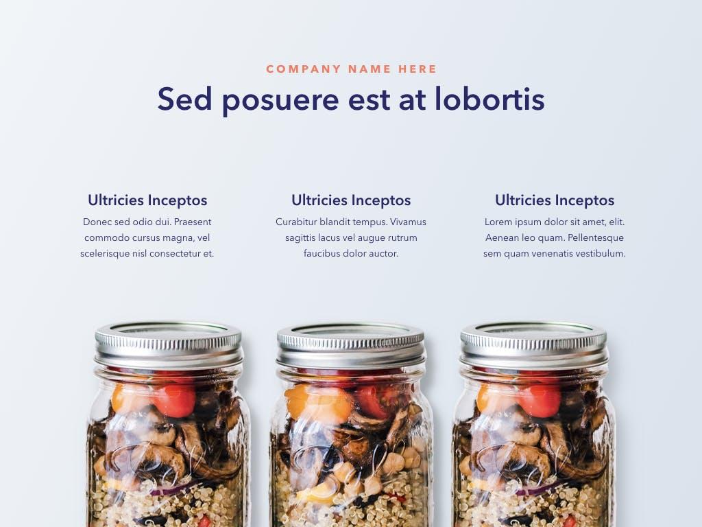 西餐料理品牌新菜品介绍PPT幻灯片模板Nutritious PowerPoint Template插图(6)