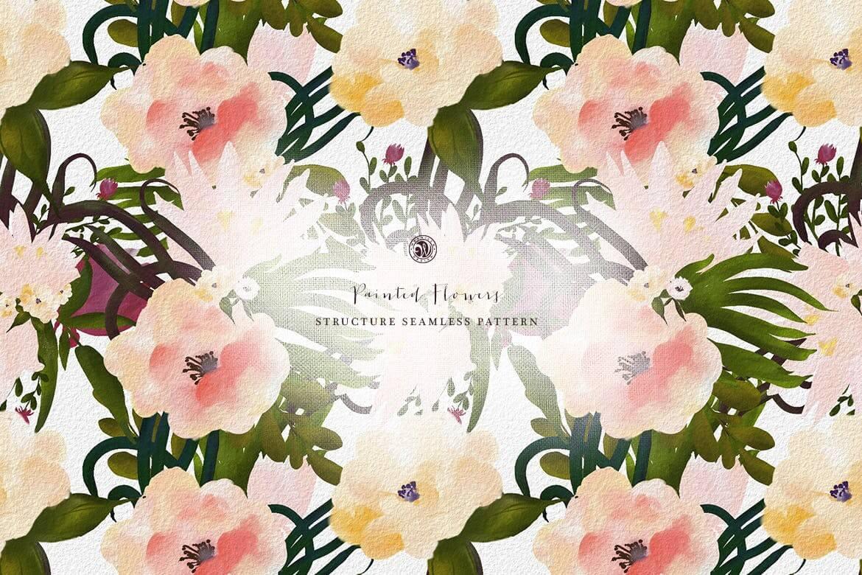 彩绘花卉品牌手提袋包装装饰图案素材Painted Flowers插图(6)