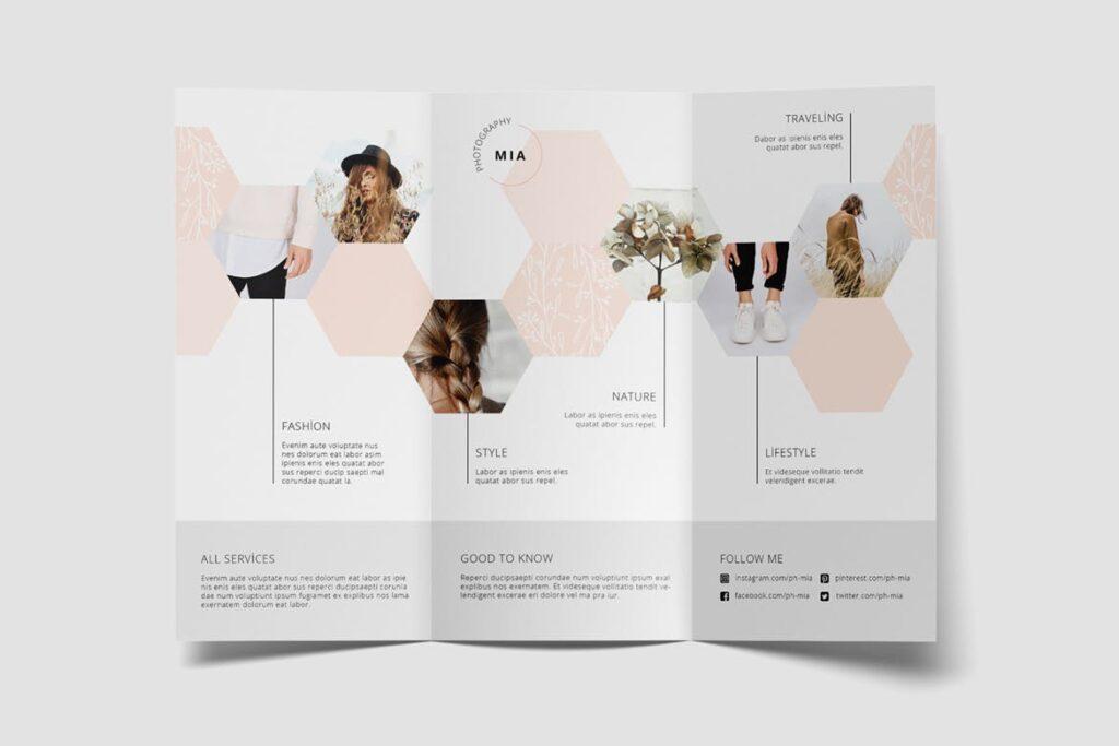 企业多功能组合小册子模板素材Portfolio Trifold Flyer插图(6)