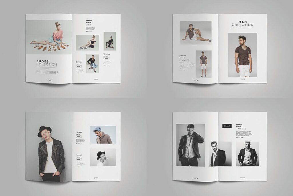 时尚服装/产品目录画册模板Product Catalog Template插图(6)