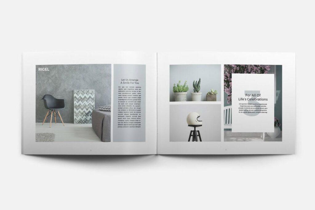 简约绿植居家生活类画册模板Rigel Brochure Template插图(6)