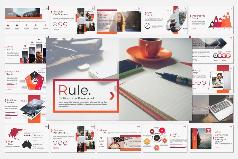 企业市场策划/企业年报汇报PPT幻灯片模板Rule Creative Keynote插图(6)