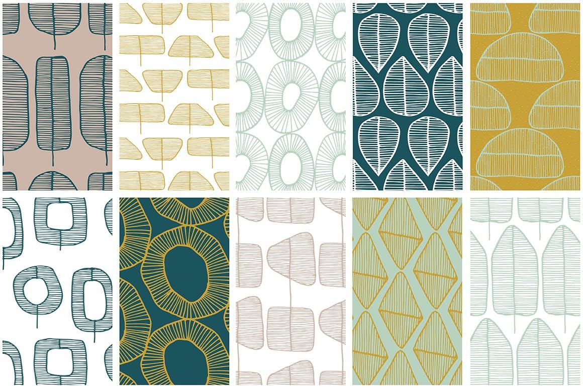 春天森林物语系列装饰纹理素材下载Spring Forest Patterns Collection插图(6)