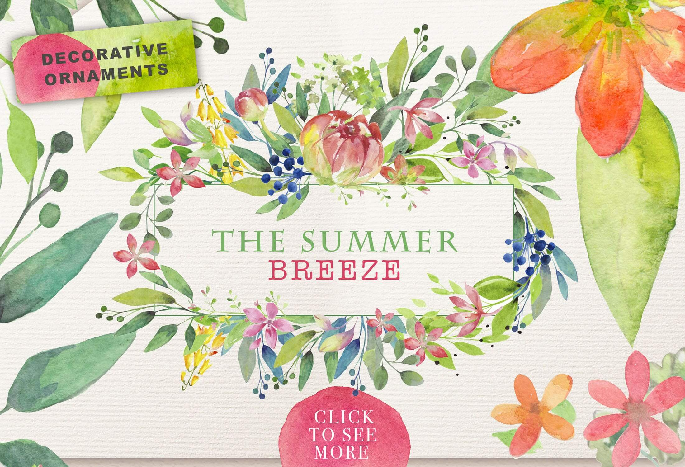 夏季素材鲜花素材装饰排列合集THE SUMMER BREEZE插图(6)