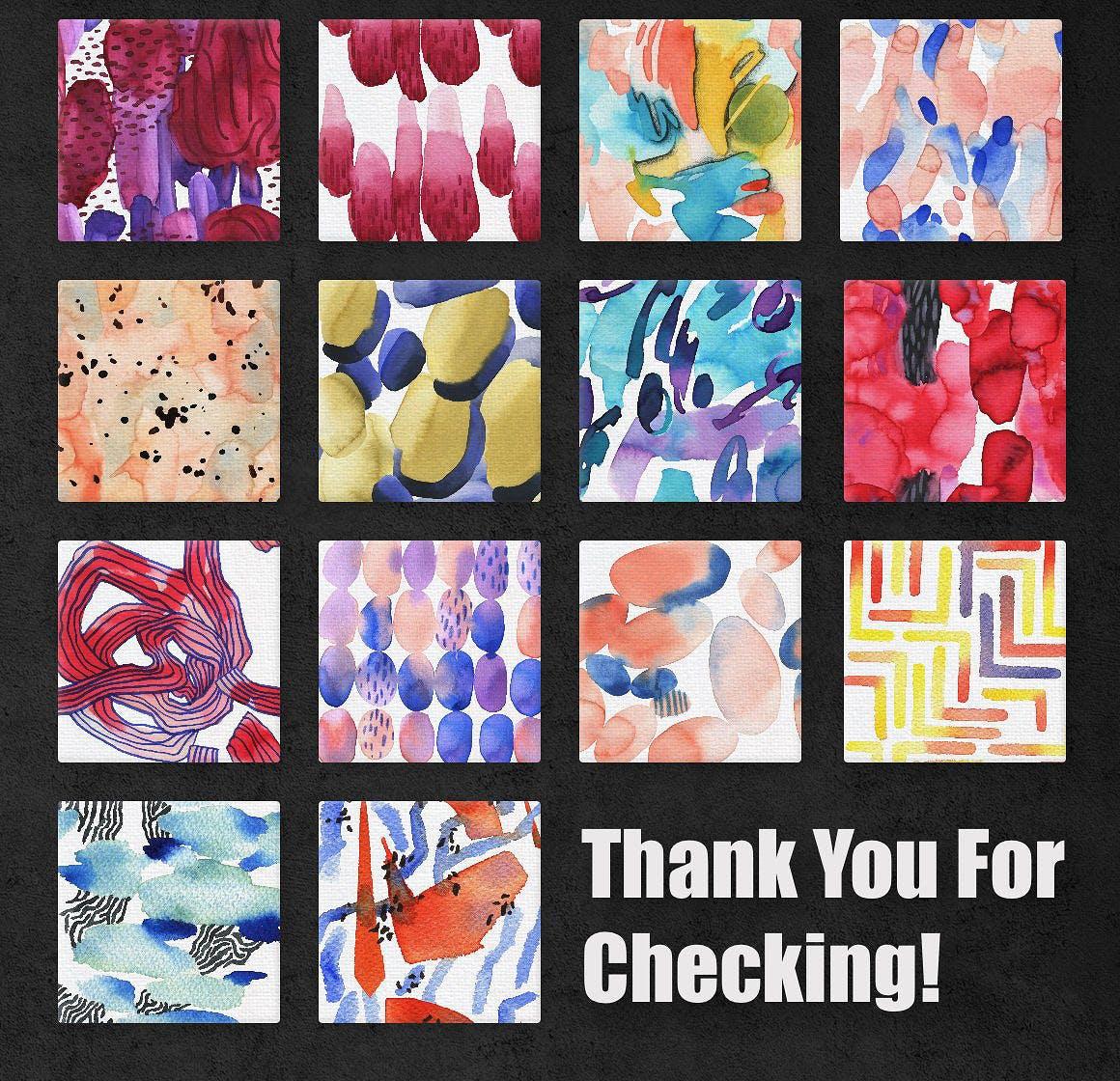几何纹理水彩装饰图案纹理下载Vibrant Watercolor Patterns插图(6)