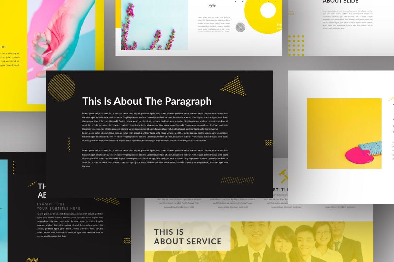 欧美风素材模板演示文稿模板Yellow Creative Keynote插图(4)
