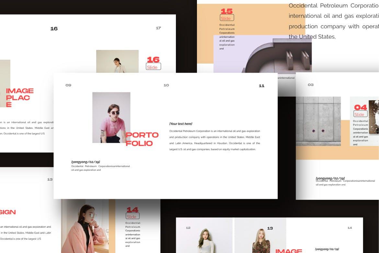 时尚潮流品牌提案PPT幻灯片模板Yong Google Slide插图(5)