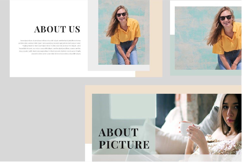 时尚潮流品牌新品展示PPT幻灯片模板lentitude Fashion Keynote插图(5)