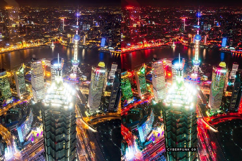 10个城市夜景调色预设照片效果处理LR预设10 Cyberpunk Lightroom Presets LUTs插图(8)