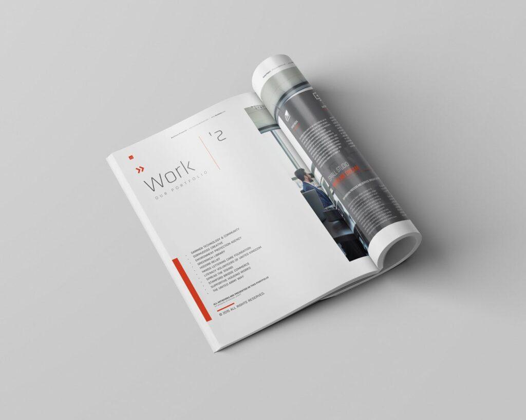 精致企业服务类/产品画册杂志模板Brochure WBYXNN插图(5)