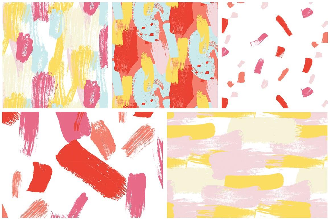 抽象图案多彩笔触纹理素材Color Splash Patterns插图(7)