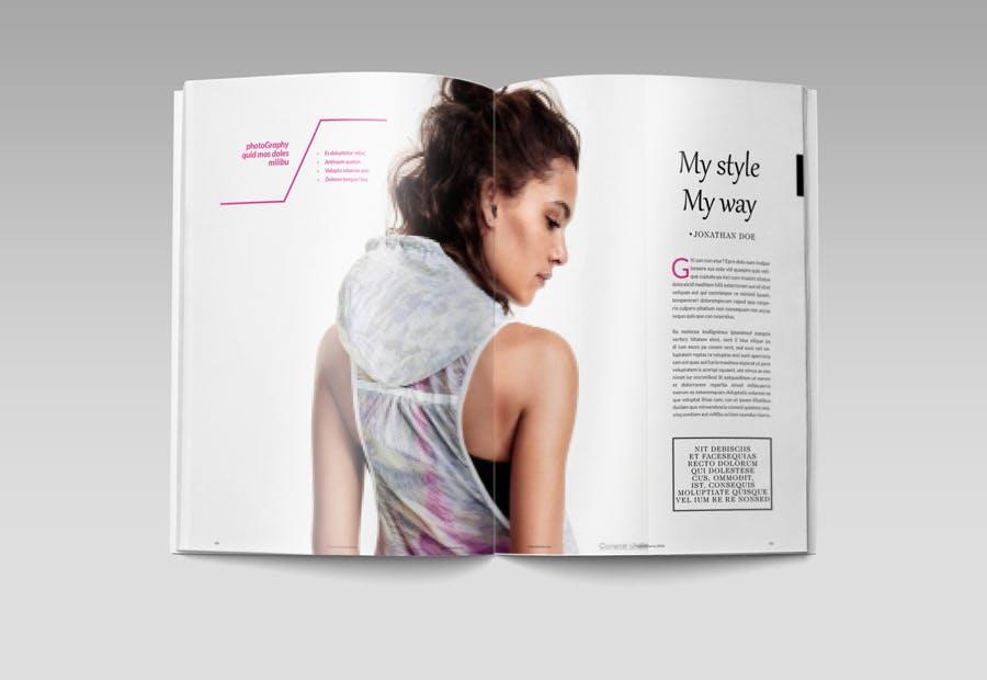 模特经纪或时装展览杂志模板素材Fashion Magazine R8C6UK插图(7)