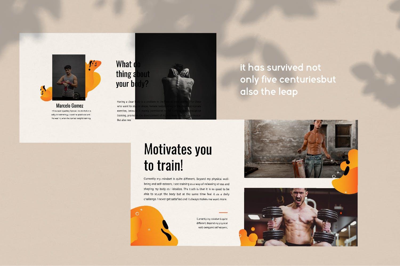 瑜伽健身主题宣讲PPT幻灯片模板GYM Google Slide插图(6)