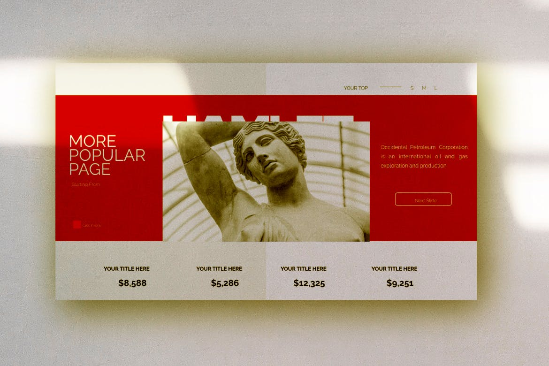 艺术雕塑主题演讲模板PPT幻灯片下载HAMLET Urban Powerpoint Design插图(6)