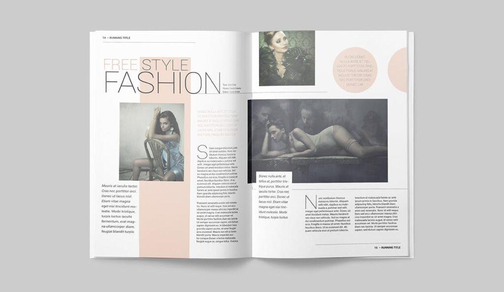 时尚潮流/画廊主题杂志模板Magazine Template SLCJBWR插图(7)